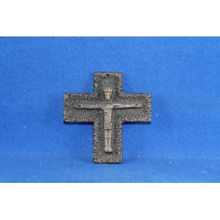 Kreuz Kruzifix Kommunion Firmung Messing Bronze 9 cm Brass Cross